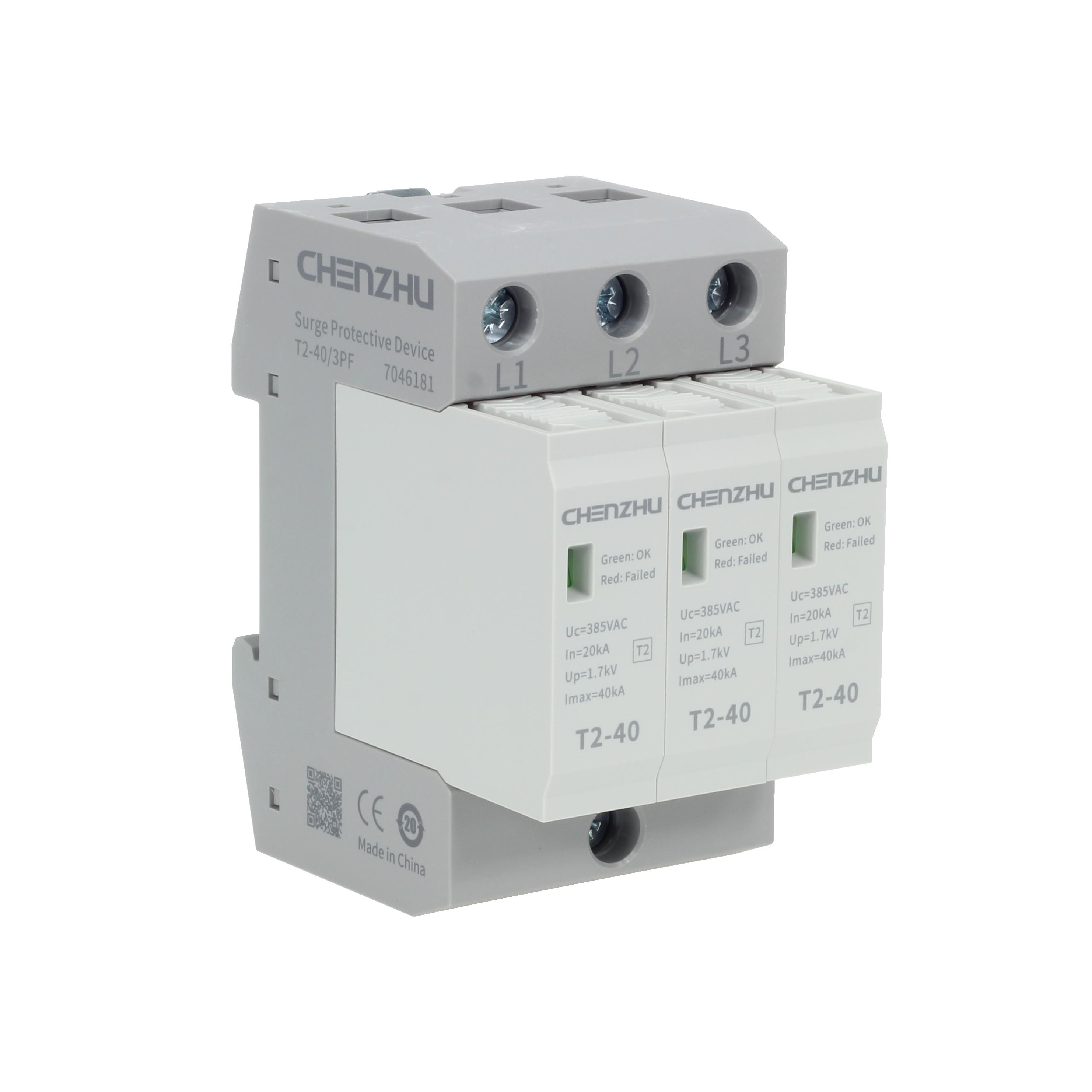AC Power SPD (220/380VAC; IT or TN-C system, Three phase; In=20kA; alarm output ) 7043461