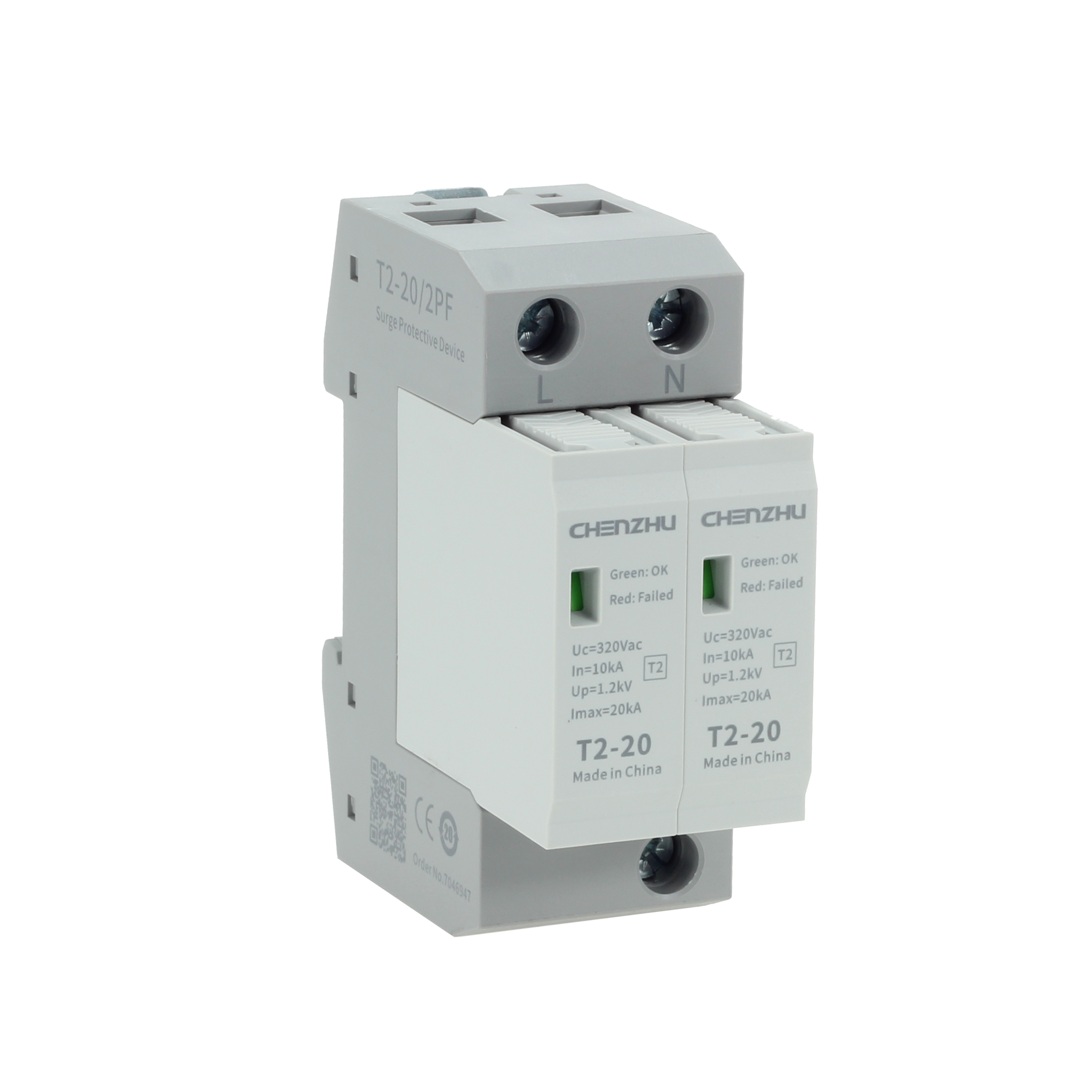 AC power SPD  (220/380VAC; Single phase TN; In=10kA ) 7083851