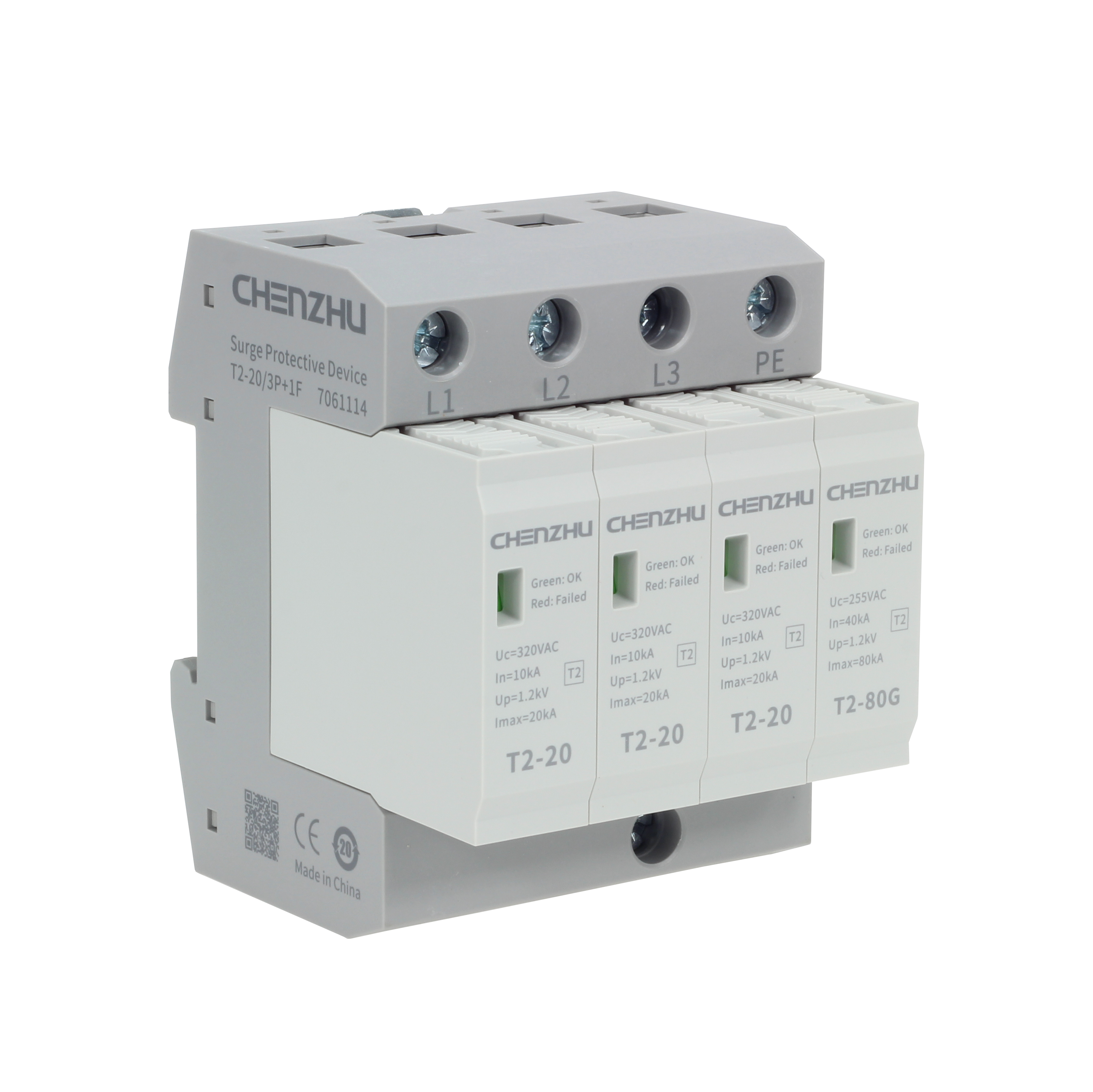 AC Power SPD (220/380VAC; Three phase TT; In=10kA; alarm output ) 7022163