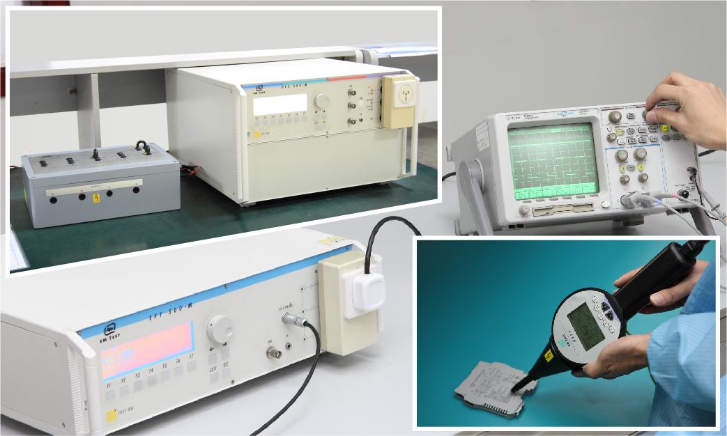 電快速脈沖群、浪涌、靜電放電抗擾度試驗