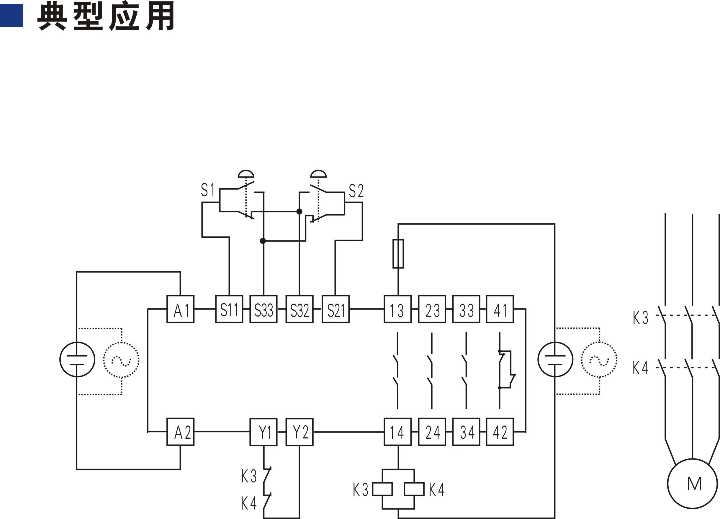 开关型安全设备输入 (双手按钮 24V DC/AC 3NO+1NC 无复位)