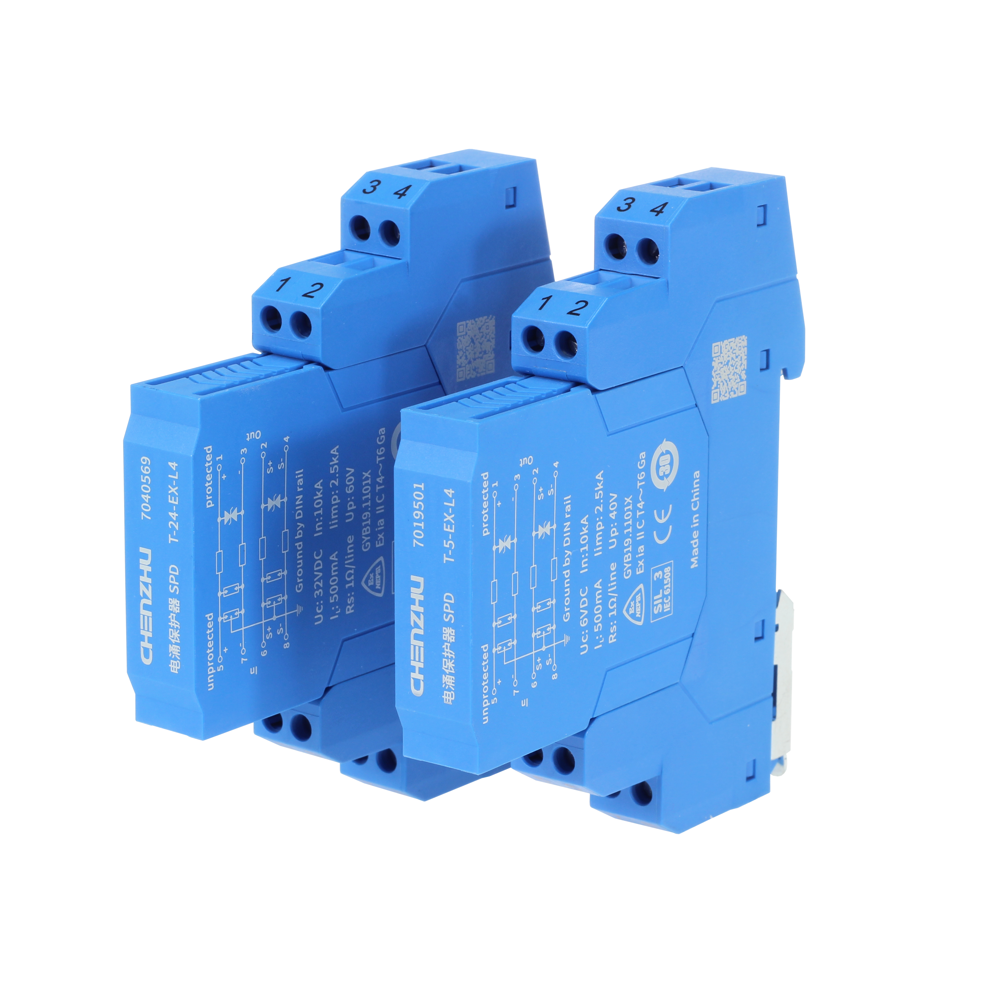 SPD for Signal (5V; 4 wires; In=10kA; Intrinsic Safety ) 7054178