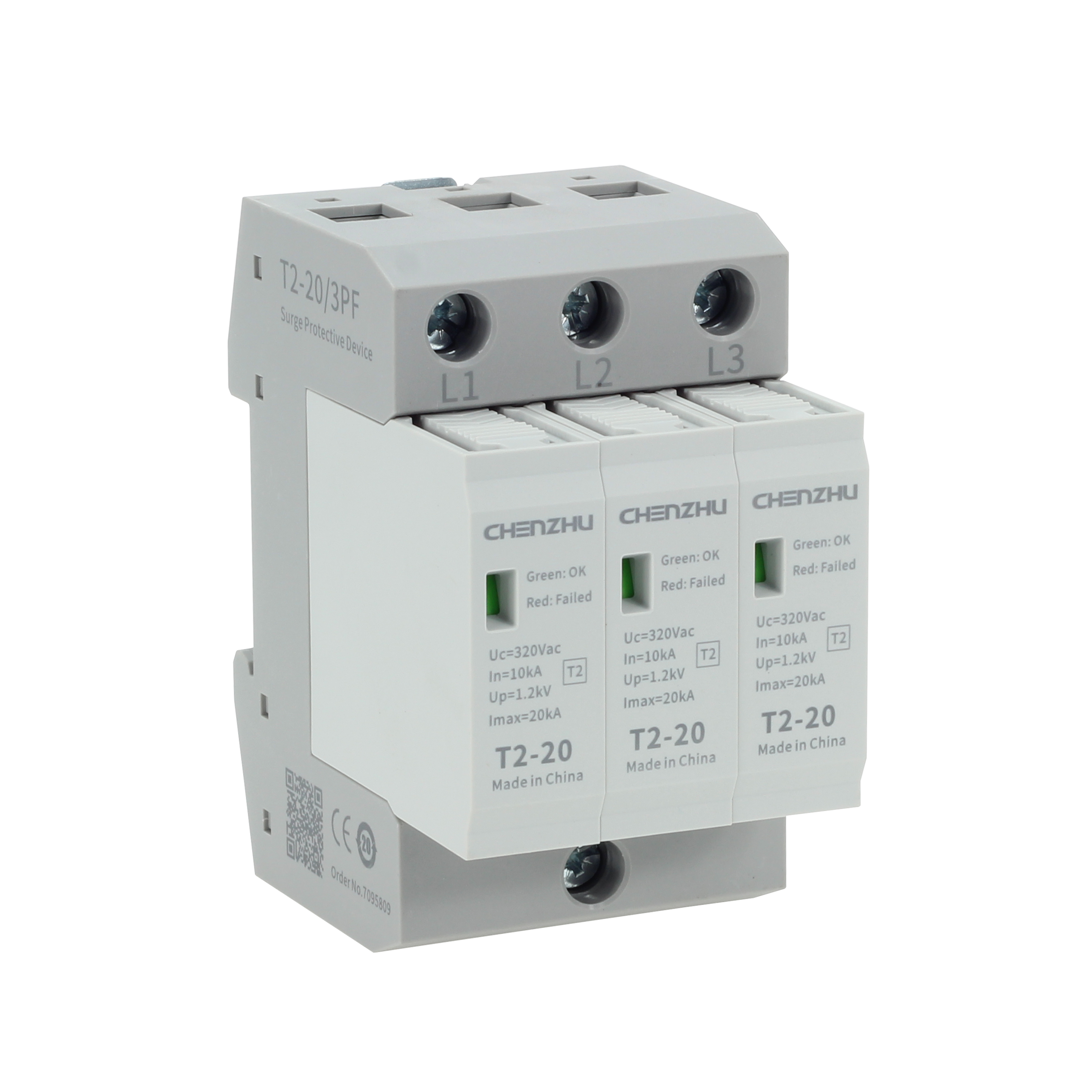 AC Power SPD (220/380VAC; IT or TN-C system, Three phase; In=10kA; alarm output ) 7075639