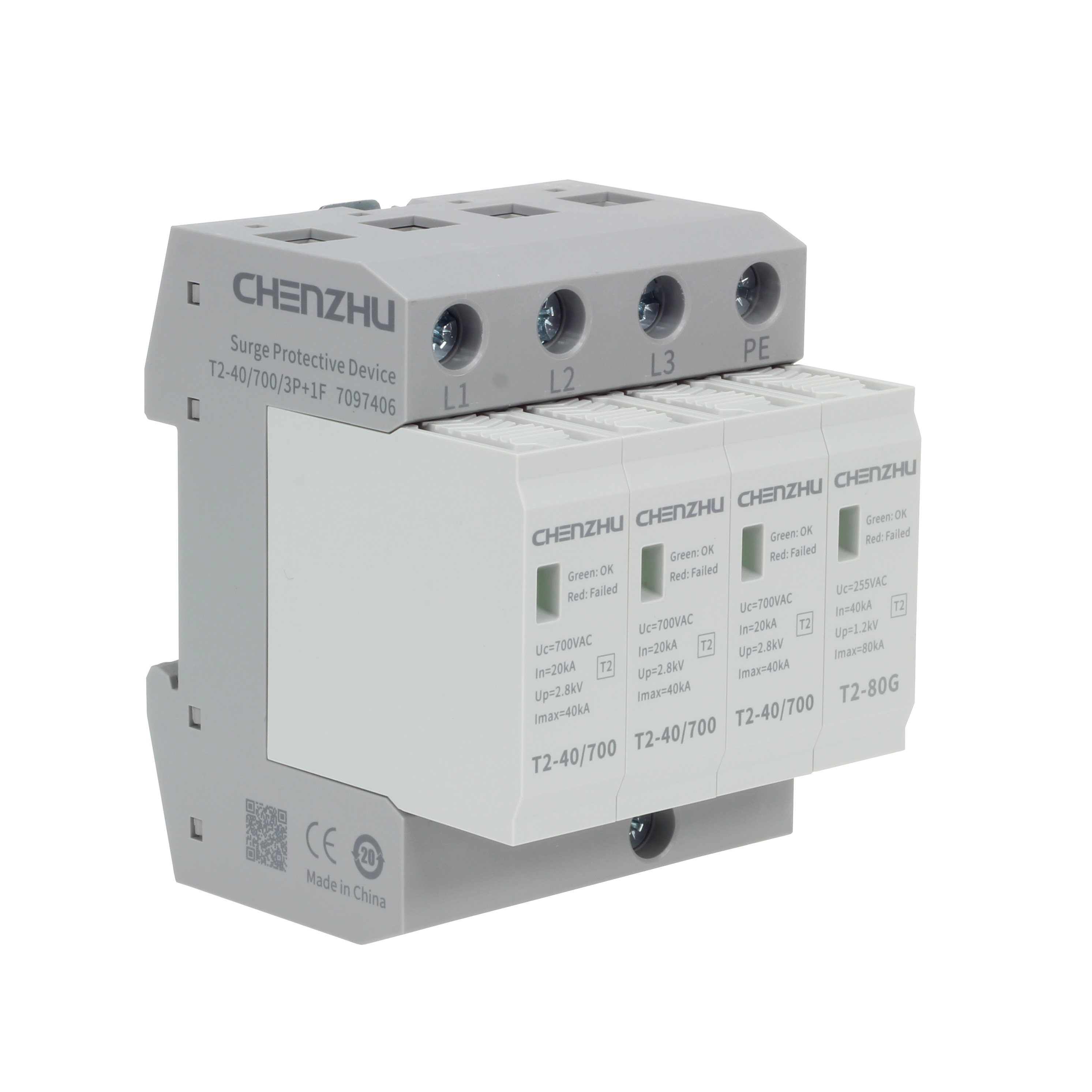 AC Power SPD (400/690VAC; Three phase TT; In=20kA) 7016349
